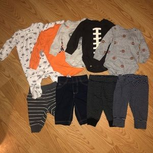 Lot of  baby boy Carters 9 pieces Sz 3 moths